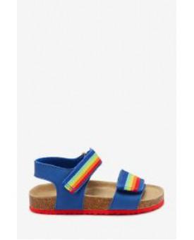 Райдужні сандалі на корковій підошві 855-097