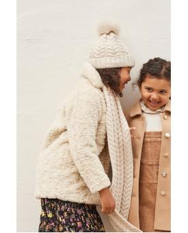 Кремова куртка-пальто 993-188