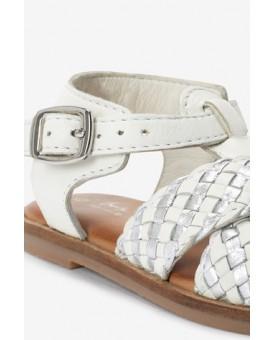 Шкіряні плетені сандалі з Т-образним рмешком 774-324
