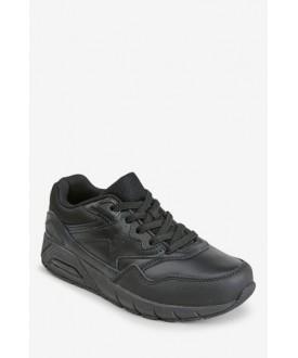 Чорні шкіряні кросівки 919-263